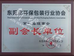 2012.04 dongguan environmental protection packaging industry association vice Pr